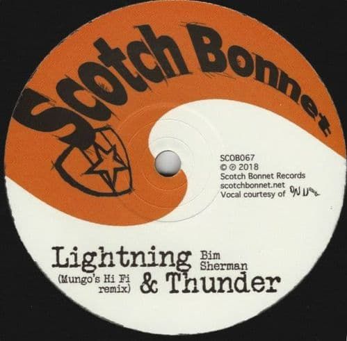 "Bim Sherman / Mungo's Hi-Fi<br>Lightning & Thunder / Thunderclap Dub<br>10"", Single, Ltd"